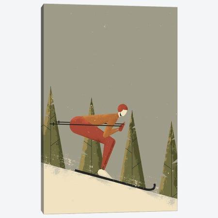 Skiing Canvas Print #AKC47} by Amer Karic Canvas Wall Art