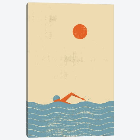 Swimmer Canvas Print #AKC50} by Amer Karic Canvas Artwork