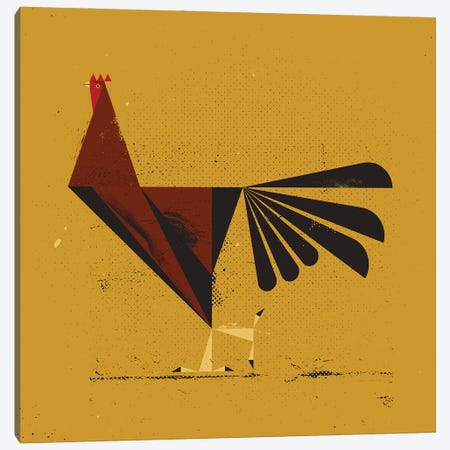 Rooster Canvas Print #AKC63} by Amer Karic Canvas Art Print