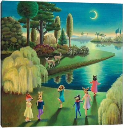 Lakeside Masquerade by Antoinette Kelly Canvas Art Print