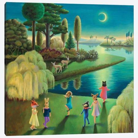 Lakeside Masquerade Canvas Print #AKE16} by Antoinette Kelly Canvas Print