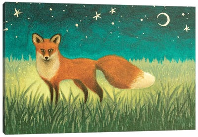 Night Fox Canvas Art Print