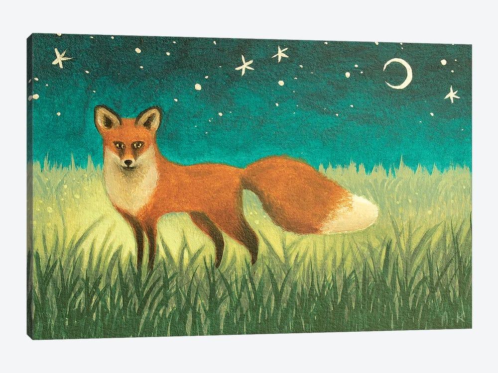Night Fox by Antoinette Kelly 1-piece Canvas Artwork