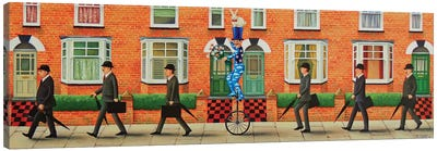 Off To Work! Canvas Art Print