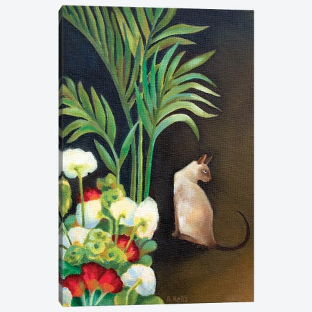 Siamese Cat Canvas Print #AKE22} by Antoinette Kelly Canvas Print
