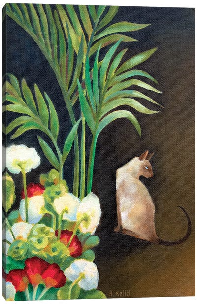 Siamese Cat by Antoinette Kelly Canvas Art Print