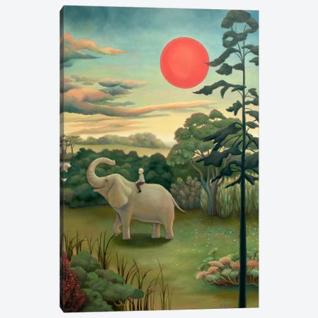 Under The Red Sun Canvas Print #AKE25} by Antoinette Kelly Canvas Art