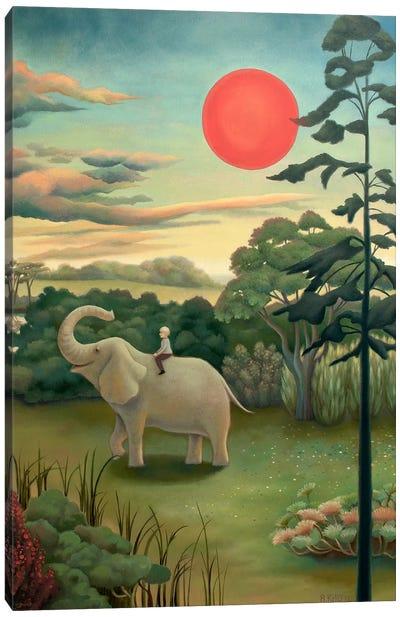 Under The Red Sun Canvas Art Print