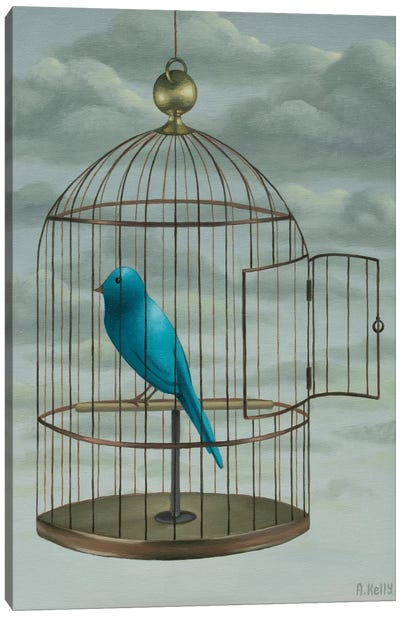 Blue Bird Canvas Art Print