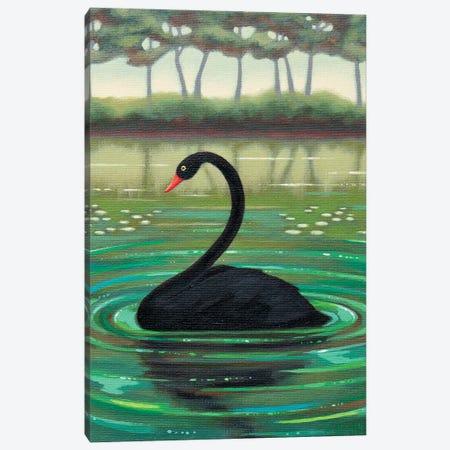 Black Swan Canvas Print #AKE36} by Antoinette Kelly Canvas Art Print
