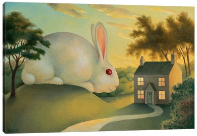 Big Bunny Is Watching You Canvas Art Print