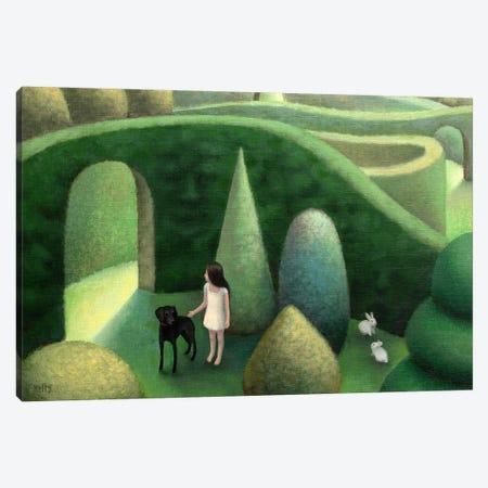 Black Dog Canvas Print #AKE4} by Antoinette Kelly Art Print