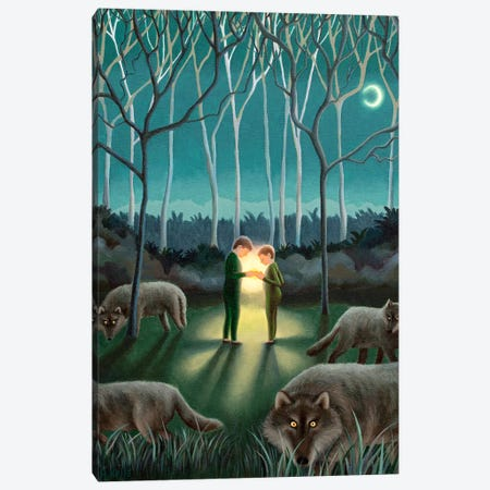 Brighter Than The Moon Canvas Print #AKE5} by Antoinette Kelly Canvas Print