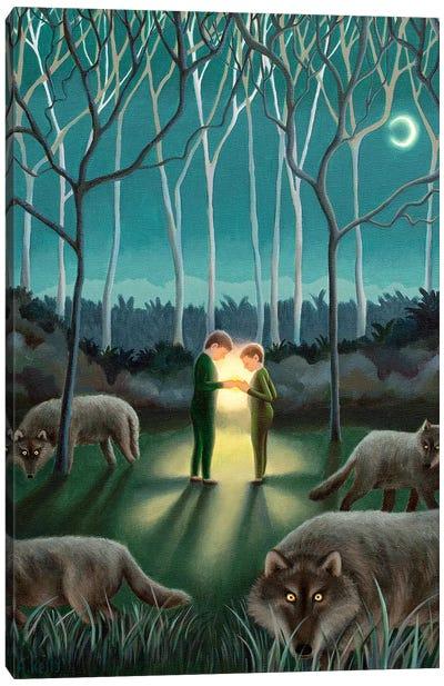 Brighter Than The Moon Canvas Art Print