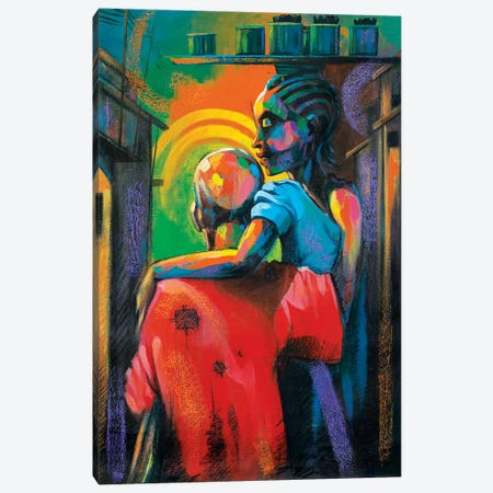 Moments Together Canvas Print #AKI10} by Akintayo Akintobi Canvas Art