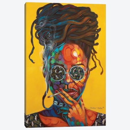 Woman Of Steel Canvas Print #AKI19} by Akintayo Akintobi Canvas Wall Art
