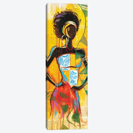 African Lady Canvas Print #AKI1} by Akintayo Akintobi Canvas Art