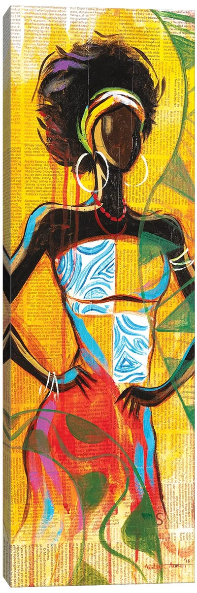 African Lady Canvas Art Print