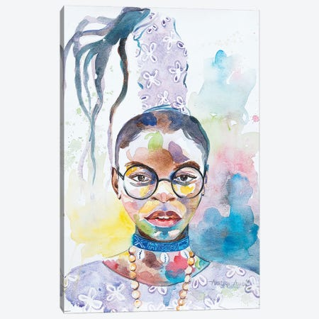 Abeke Canvas Print #AKI21} by Akintayo Akintobi Canvas Print