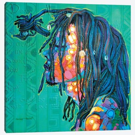 Between The Colors Canvas Print #AKI27} by Akintayo Akintobi Canvas Art