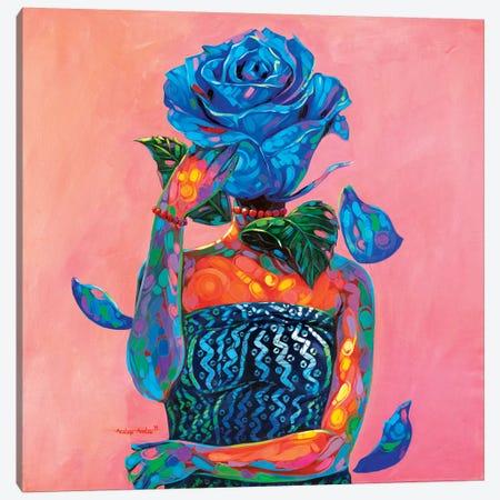 Lady Blue Canvas Print #AKI8} by Akintayo Akintobi Canvas Art