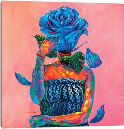 Lady Blue Canvas Art Print