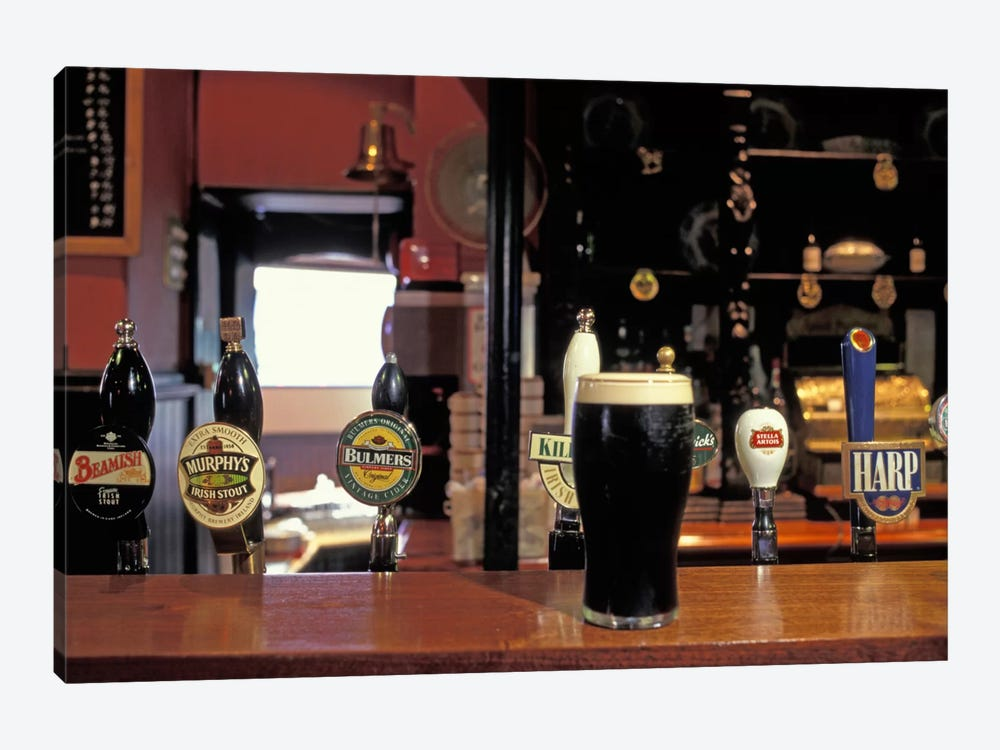 Glass Of Stout On The Bar, The Old Stand, Dublin, Republic Of Ireland by Alan Klehr 1-piece Art Print