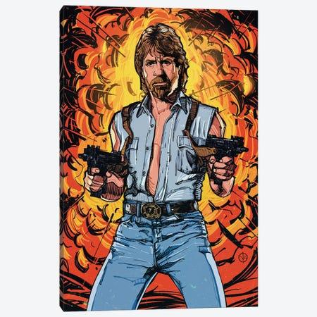 Chuck Norris Canvas Print #AKM107} by Nikita Abakumov Canvas Artwork