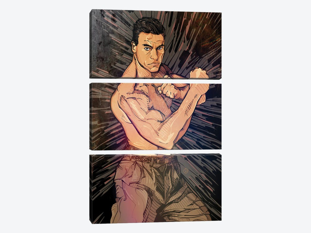 JCVD by Nikita Abakumov 3-piece Canvas Artwork