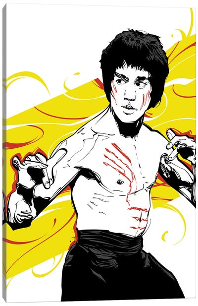 Bruce Lee Yellow Canvas Art Print