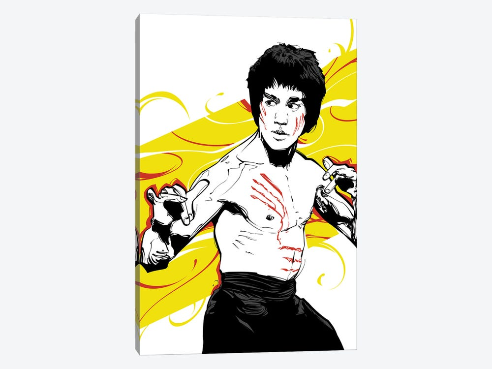 Bruce Lee Yellow by Nikita Abakumov 1-piece Art Print