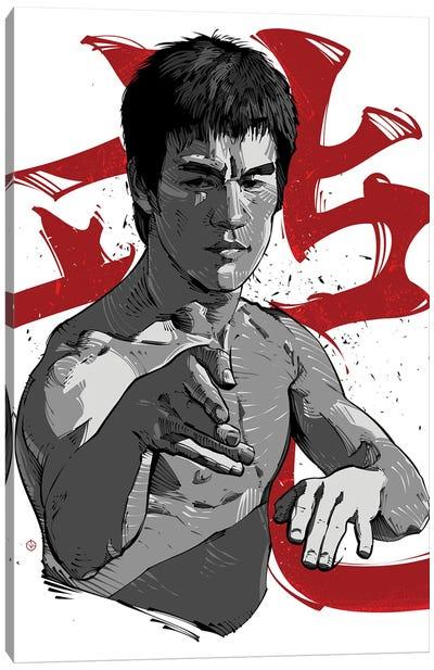 Bruce Lee Fight Canvas Art Print