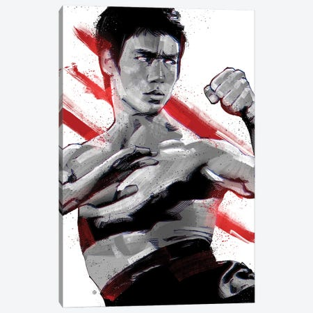 Bruce Lee Ready Canvas Print #AKM120} by Nikita Abakumov Canvas Print