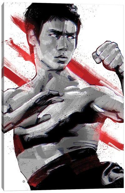 Bruce Lee Ready Canvas Art Print