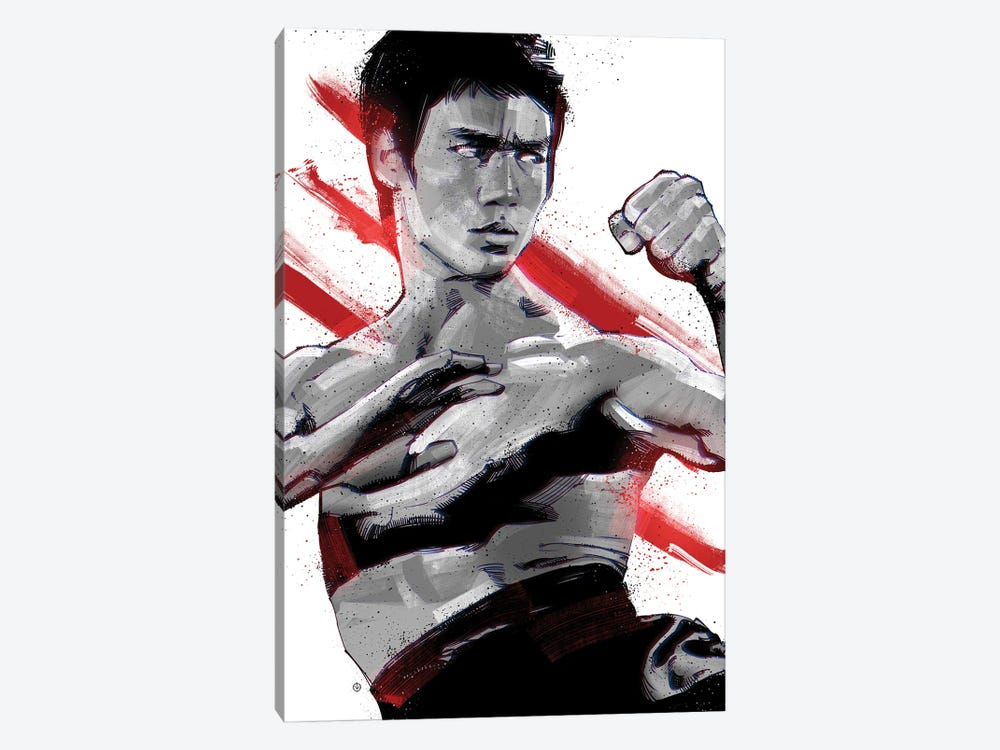 Bruce Lee Ready by Nikita Abakumov 1-piece Canvas Art