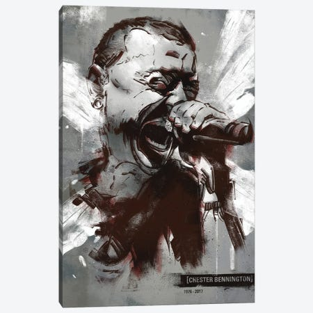 Chester Bennington I Canvas Print #AKM124} by Nikita Abakumov Canvas Wall Art
