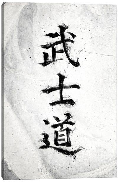 Bushido White Canvas Art Print