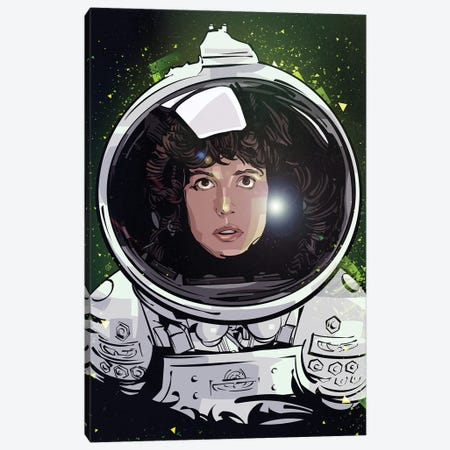 Ellen Ripley Canvas Print #AKM139} by Nikita Abakumov Canvas Artwork