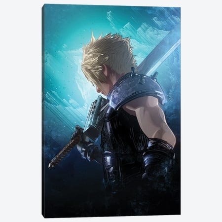 Cloud Strife Canvas Print #AKM145} by Nikita Abakumov Canvas Wall Art