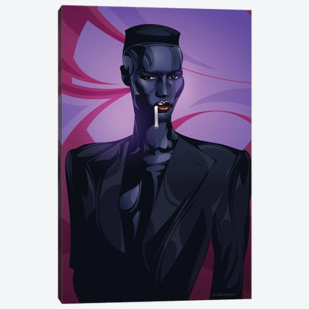 Grace Jones Canvas Print #AKM149} by Nikita Abakumov Canvas Print