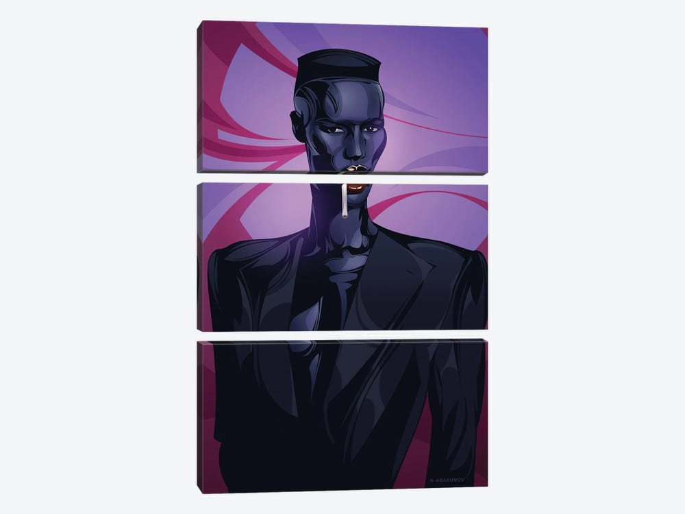 Grace Jones by Nikita Abakumov 3-piece Canvas Art Print