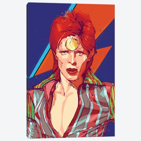 David Bowie I Canvas Print #AKM14} by Nikita Abakumov Canvas Art Print