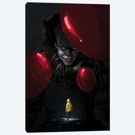 Pennywise Canvas Print #AKM165} by Nikita Abakumov Canvas Wall Art