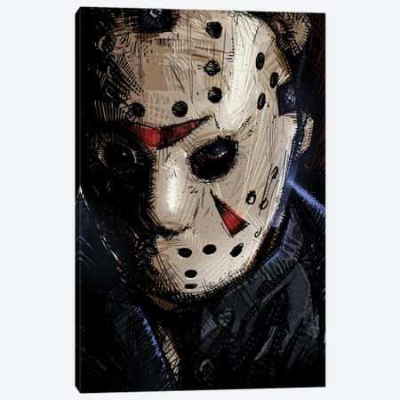 Jason Voorhees I Canvas Print #AKM167} by Nikita Abakumov Canvas Wall Art
