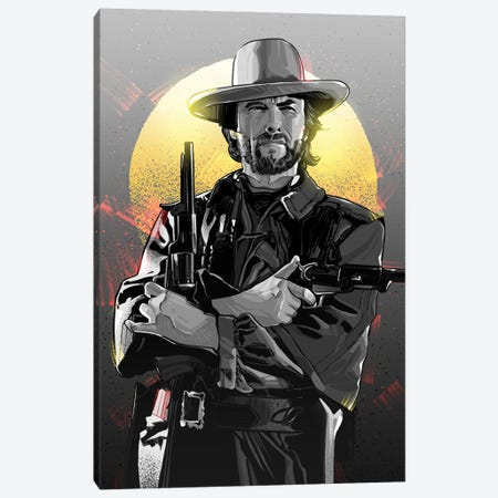 Clint Eastwood Canvas Print #AKM171} by Nikita Abakumov Canvas Artwork