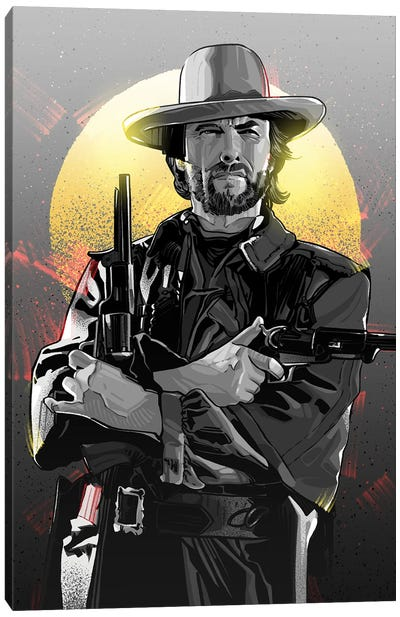 Clint Eastwood Canvas Art Print