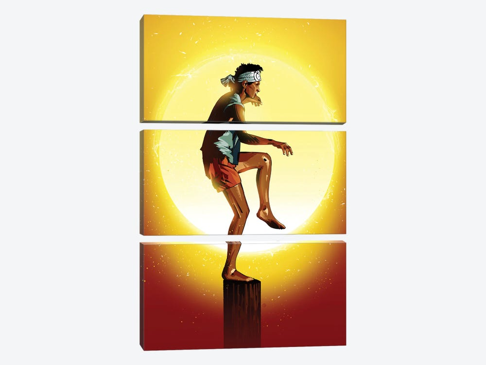 Karate Kid by Nikita Abakumov 3-piece Canvas Artwork