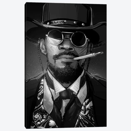 Django In Black and White Canvas Print #AKM17} by Nikita Abakumov Canvas Print