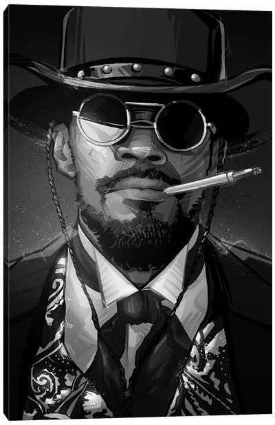 Django In Black and White Canvas Art Print