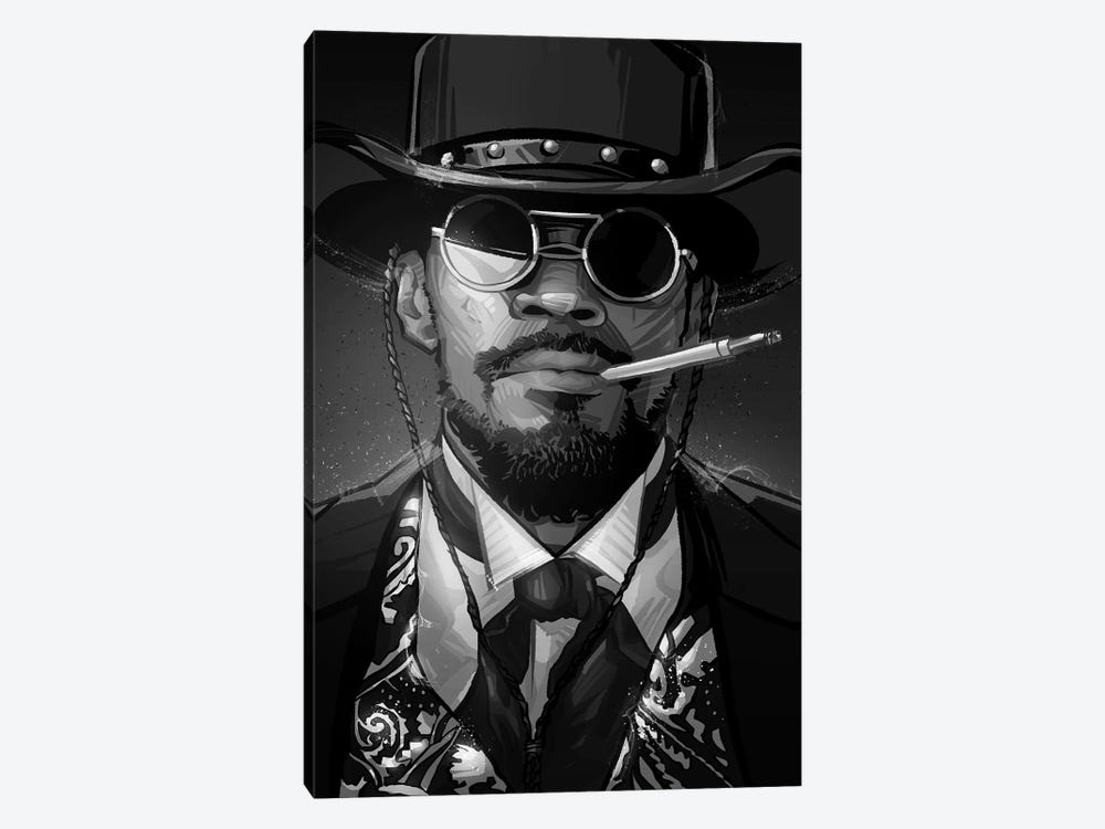 Django In Black and White by Nikita Abakumov 1-piece Canvas Artwork
